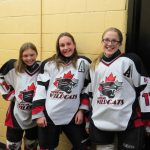 Students play for the hockey team